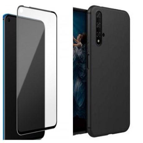 Husa Silicon si Folie Sticla Curbata 11D Huawei NOVA 5T P SMART 2021