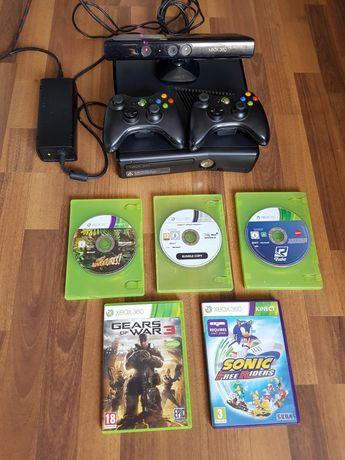 Xbox 360+ Kinect+ 17 jocuri+ toate accesoriile