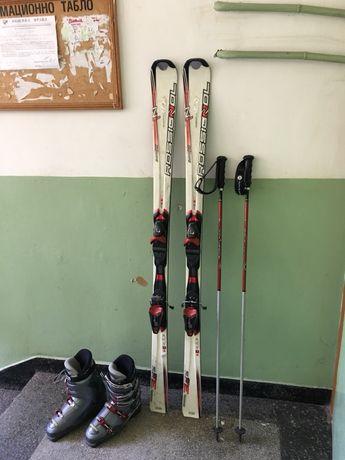 Ски-Rossignol,обувки и щеки на същата фирма.