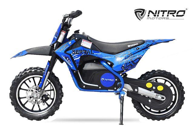 Mini motocicleta electrica NITRO Eco Serval 500W 10/10 #Albastru