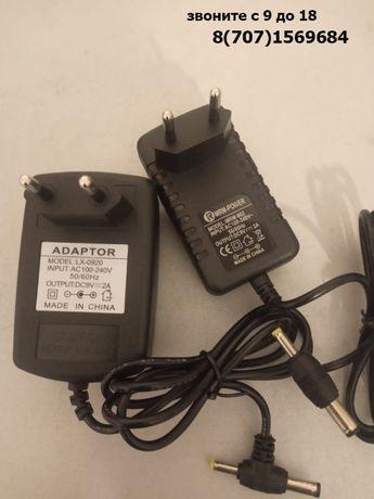 Power adapter 9 вольт 2000мА (9V 2A) блок питания для разной техники