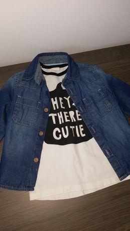 Set format din bluza plus camasa, merg pt 2 ani