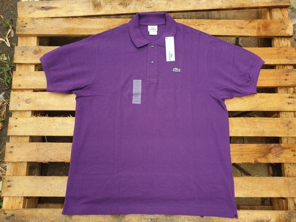 LACOSTE Purple Polo мъжка тениска с яка size XL