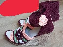 Sandale crosetate manual pentru copii si adulti 12