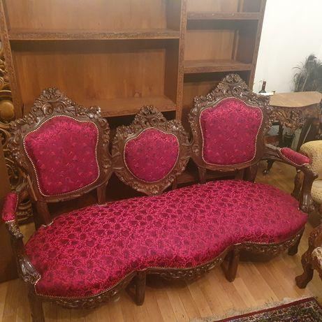 Mobila lemn natural stil baroc