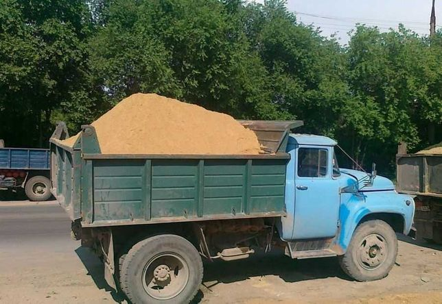 Гравий песок отсев  грунт щебень глина доставка зил камаз