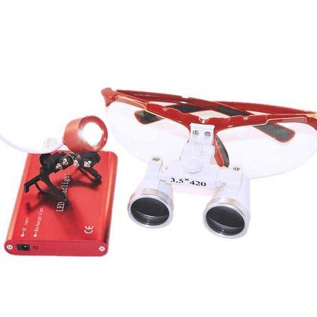 Ochelari cu lupe marire 3,5X pentru bijuterii, tehnica, medicina