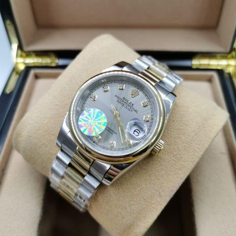 Rolex Datejust 36MM Silver Gold 03