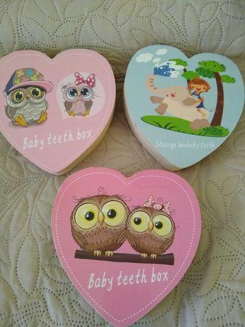 Кутия за съхранение на бебешки млечни зъби, пъпче и косичка