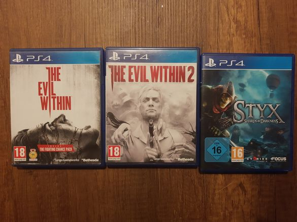 Evil Within 1 2 , Styx ps4