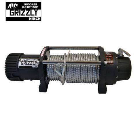 Troliu auto Grizzly Winch 9500 lbs /12 v /cablu otel