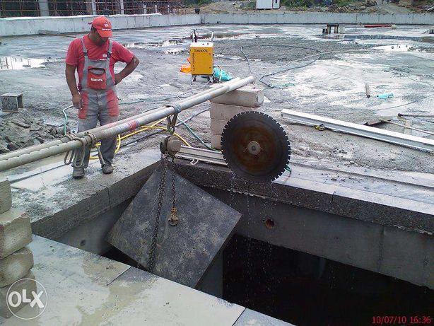 Taiere si carotare beton