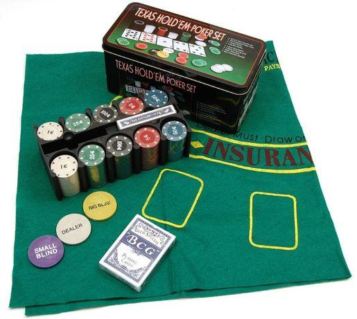 Покер Сет от 200 части за игра Комплект за покер чипове