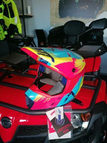 Casca copii Leatt Helmet Jr Red/Lime Atv Moto Enduro