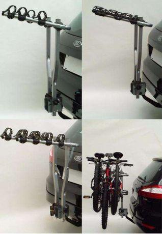 Suport auto pentru 3 biciclete cu prindere pe carligul de remorcare