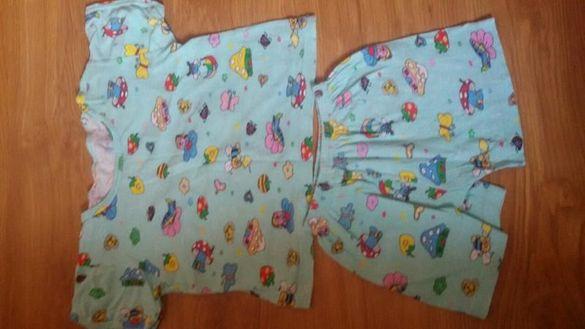 Детски български памучни пижами различни размери