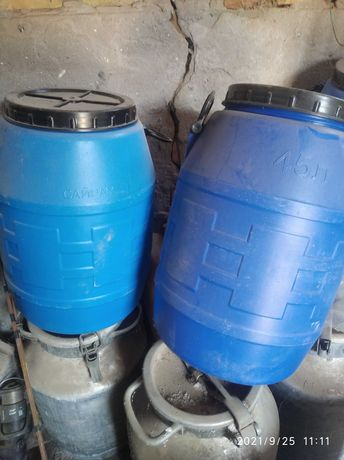Бочка 45 литров, пластик тара