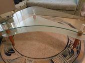 Продавам нова луксозна холна маса от дебело закалено стъкло височина -
