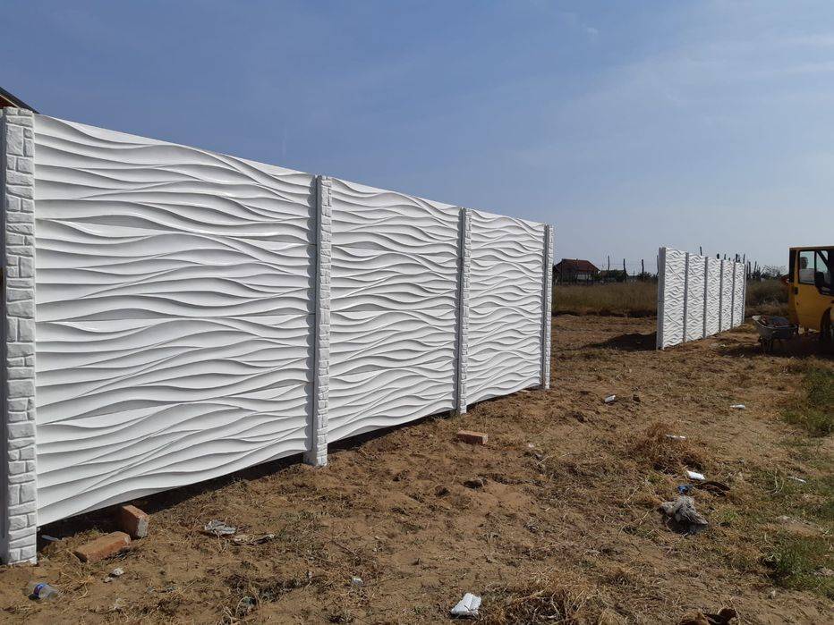 Gard din placi beton Petrosani - imagine 1