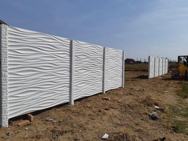 Gard din placi beton