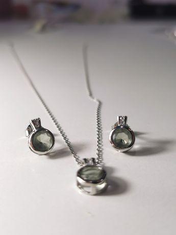 Set bijuterii argint - lant, pandantiv si cercei - cadou femei
