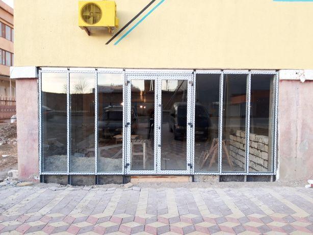 Алюминиевые входные группы,двери,окна.