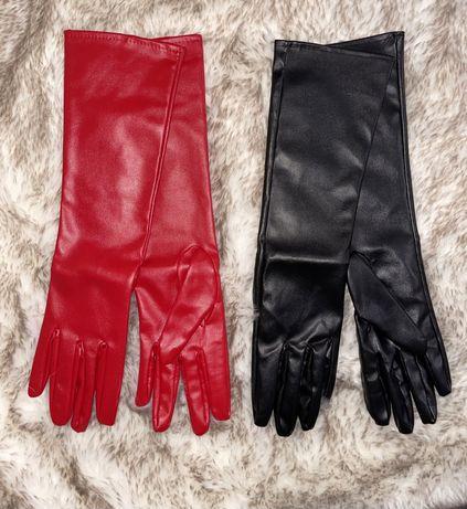 Manusi piele eco,trei sfert, rosii sau negre