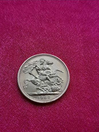 Sovereign 1962 moneda aur Elizabeth regina YOUNG HEAD