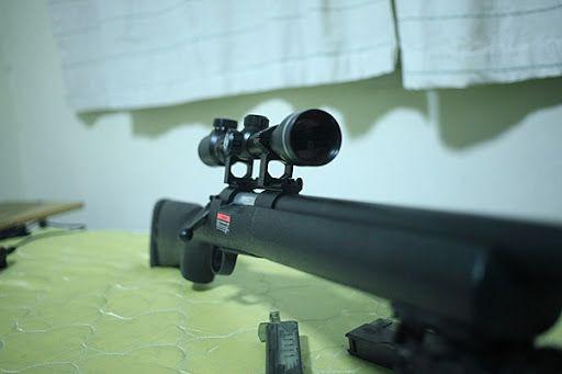 Pusca Airsoft MODIFICATA-Arma F.PUTERNICA Aer Comprimat ARC Metal 6mm