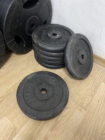 Discuri bara haltera gantere metal profi noi 10 kg pret 150 ron buc.