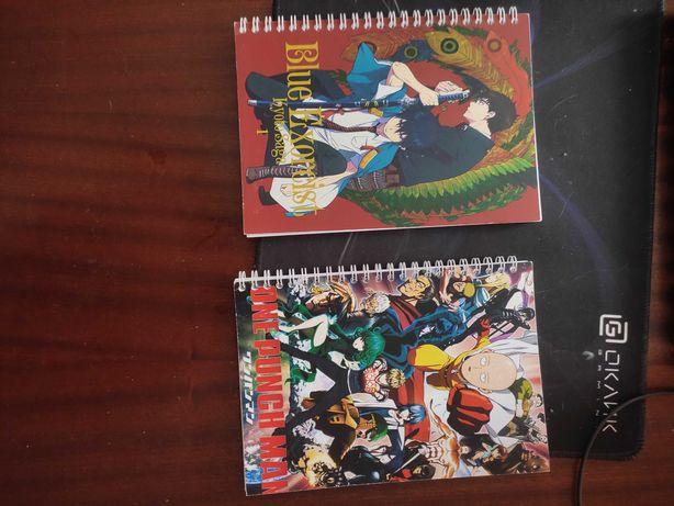 Блокноты по аниме ванпачмен и синий экзорцист