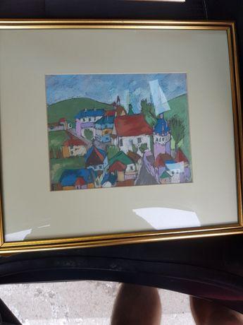 Pictura peisaj pastel Clarette Wachtel