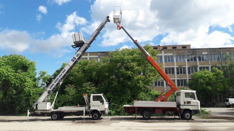 Услуги с автовишка и мебелен лифт 19 и 33 метра !!! Вишка ; Хаспел ! гр. Враца - image 1