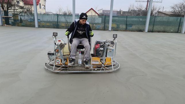 Turnare piste din beton finisat cu elicopter și cuart