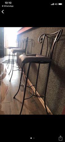 Vind scaune bar/pult din fier forjat