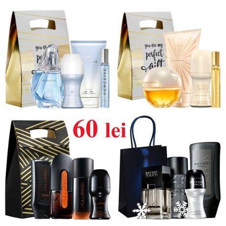 Set AVON 4 produse + cutie/punga de cadouri, in stoc