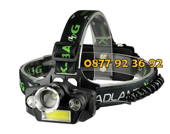 ЧЕТВОРЕН LED челник, фенер за глава, прожектор, модел: BL-T44
