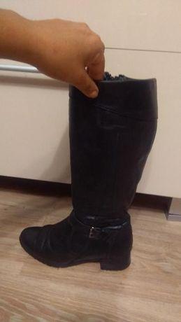 Черни ботуши от естествена кожа