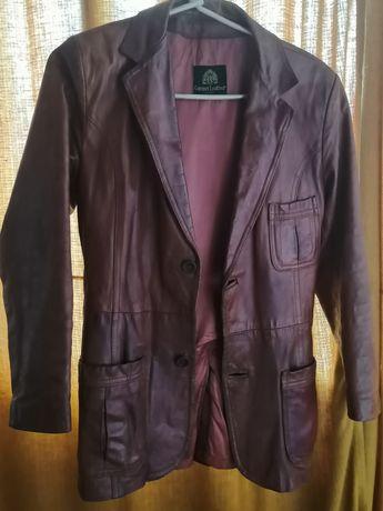 Кожаная винтажная мужская куртка - пиджак