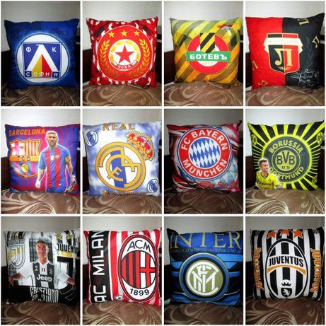 НОВО - 2020 - Декоративни възглавнички на различни Футболни отбори