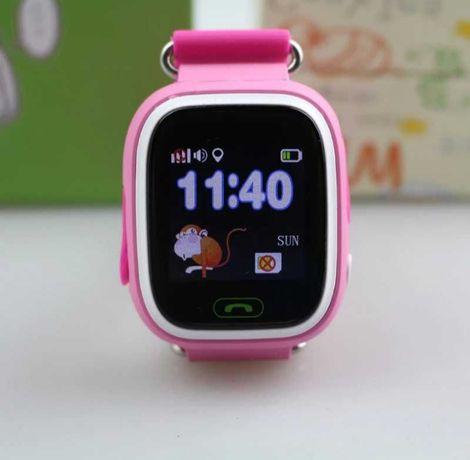 Умные часы для Детей Q90 SOS / Вызова расположение/ купить Алматы