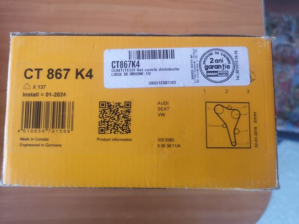 Kit dustributie Contitech CT 867 K4