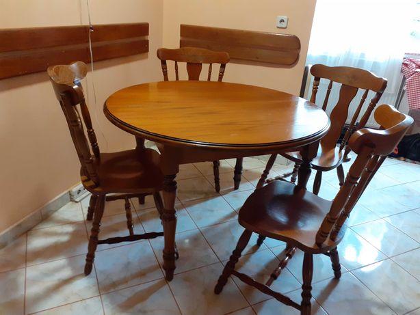 Masa extensibila si 4 scaune