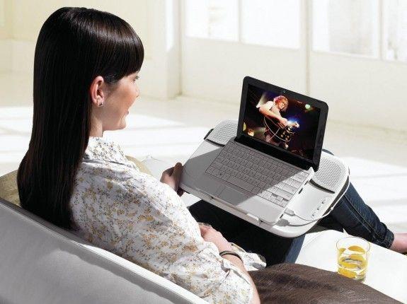 Портативная внешняя стереосистема Logitech Speaker Lapdesk N550