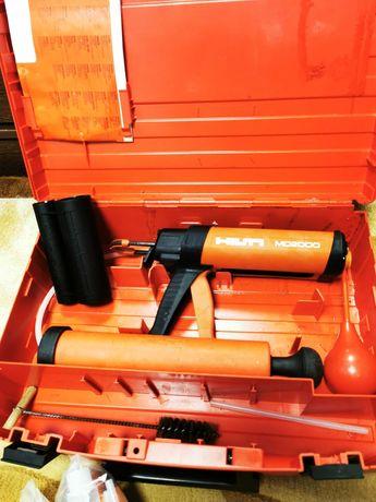 Set kit HILTI MD-2000 + HY-270 pistol pentru acora chimica, beton