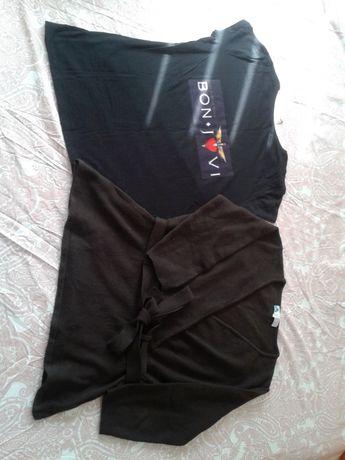 tricou Stradivarius imprimat Bon Jovi si pulover maro mar M secondhand