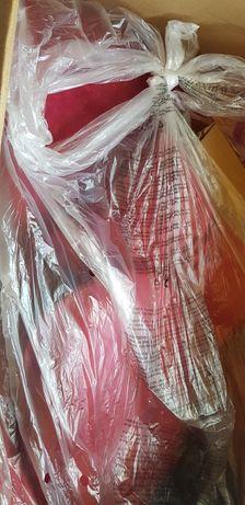 vidaXL Scaun ou rotativ, cu pernă, roșu, catifea Noi.