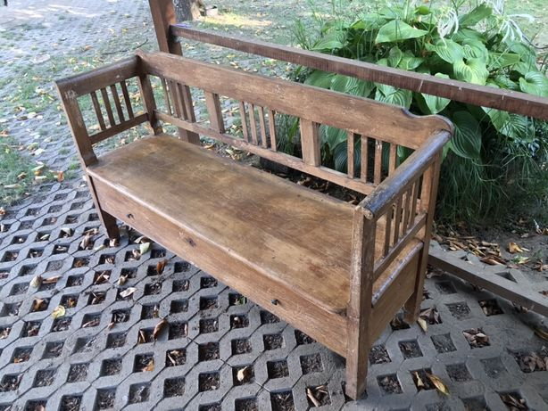 Canapea de lemn veche aprox 100de ani