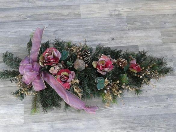 Намалено от 58лв-Декорация елхов клон за Коледа и Нова година