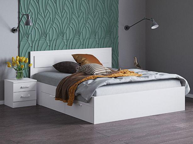 №72 Кровать двухспальная, полуторка с ящиками (новая)